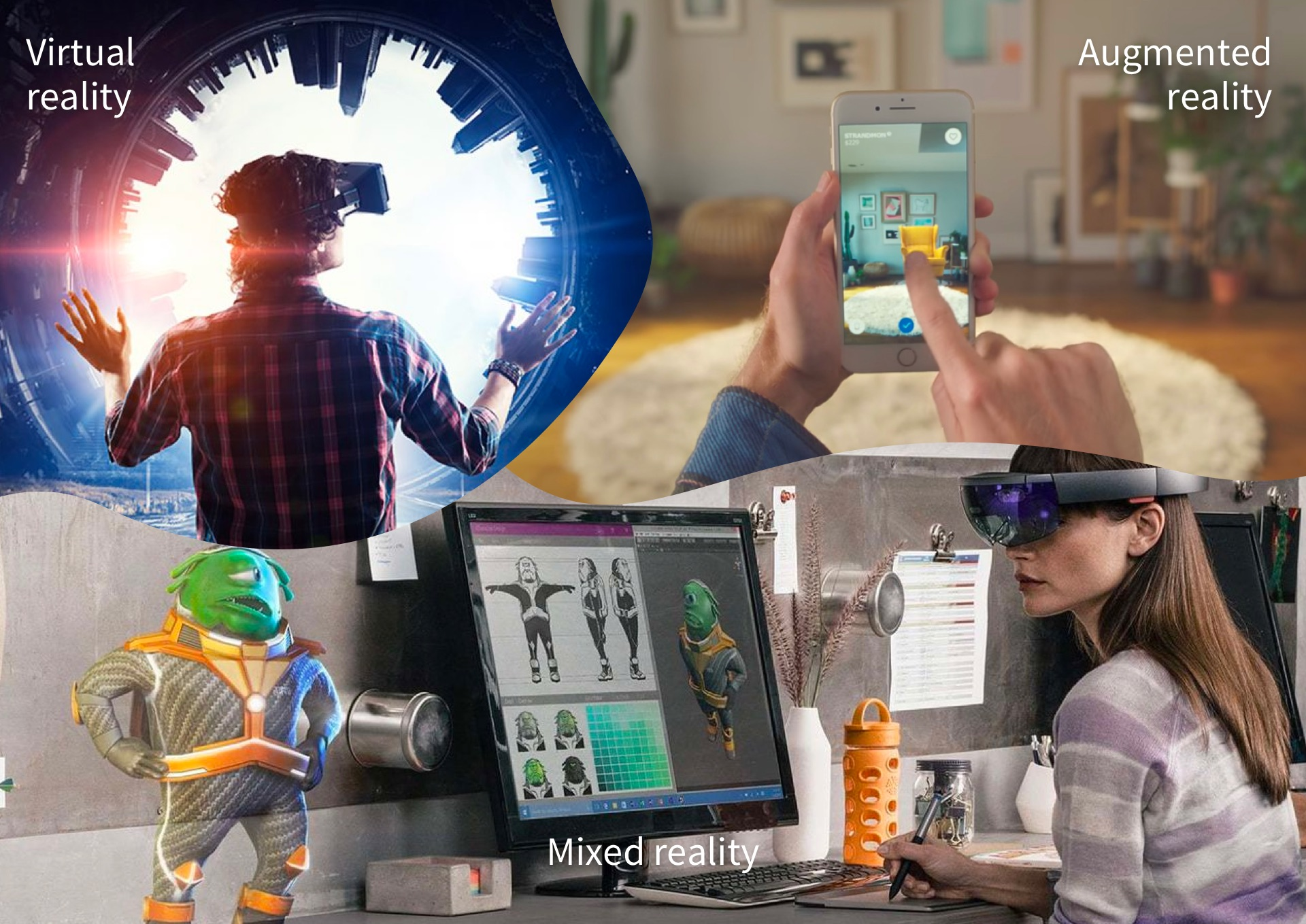 7119ee079ab Differences between Augmented Reality and Virtual Reality - Onirix
