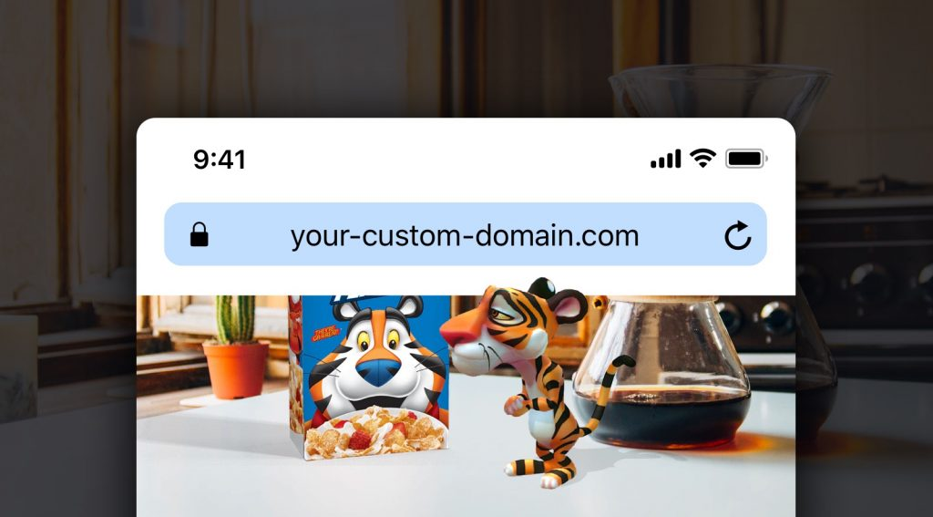 Custom domain: webAR on your own website